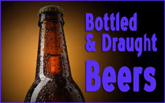 Bottled and draught beers